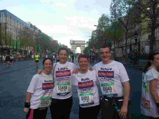 Four from Falmouth and Penryn tackle Paris Marathon for kids' charity