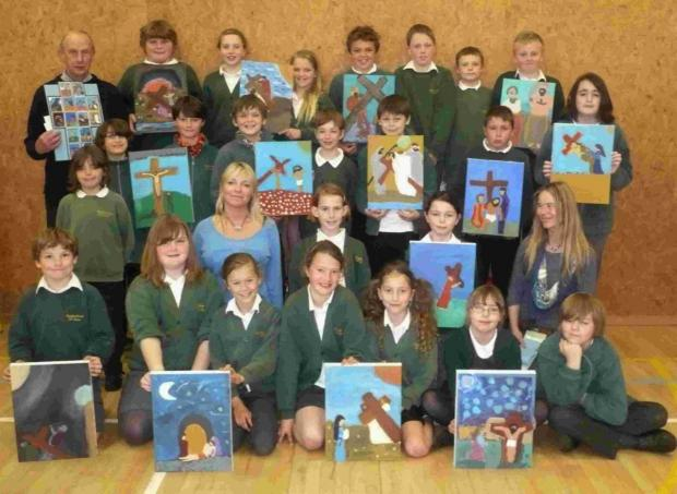Falmouth Packet: Church hosts display of Lizard pupils' artwork