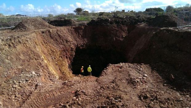 Vast mine shafts to be capped at the site