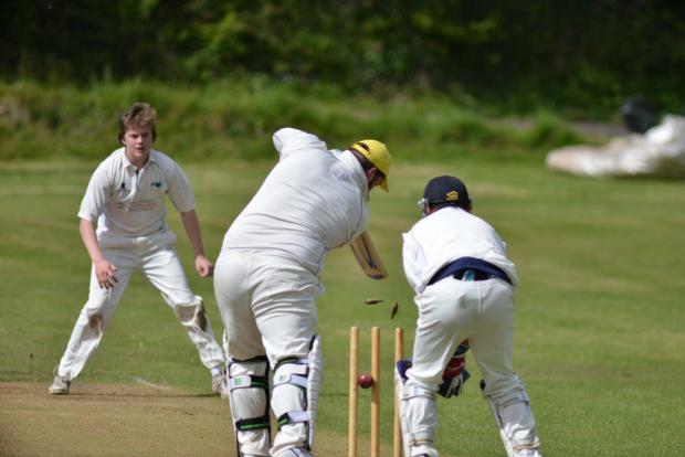 AA Falmouth wicket is taken