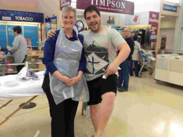No pain no gain for Helston supermarket fundraiser