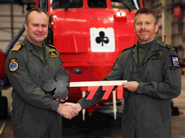 Change at the top for 771 search and rescue squadron at Culdrose