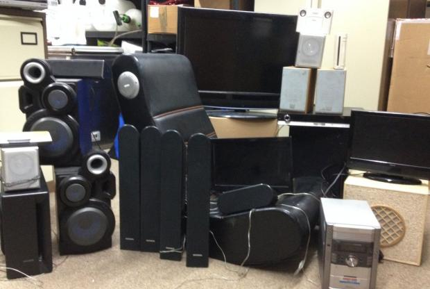 Items seized from a home