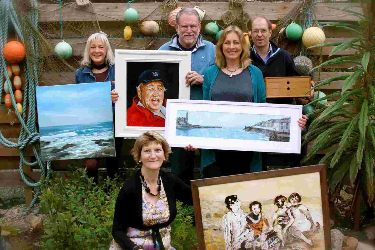Ashton Arts Group members taking part in Open Studios are, left to right, Linda Matthews, Tony Shorthouse, Ingrid Sofrin, Kevin Harris, and seated, Jane Bath.