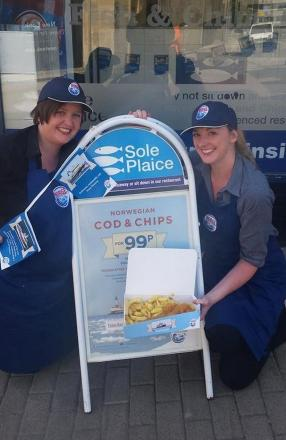 Keely Lewis and Kelly Graham from Sole Plaice in Truro