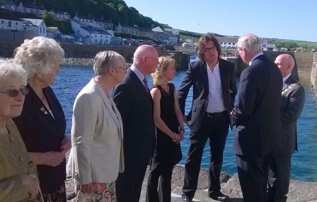 Sun shines for royal visit to Porthleven