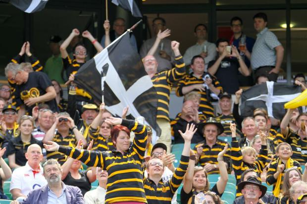 Cornwall fans in full voice