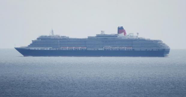 Cunard Queen Victoria off Falmouth today