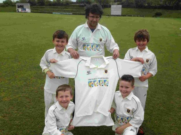 Trengilly Wartha Inn's Will Lea has sponsored new kit for the cricketers
