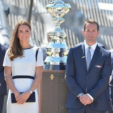 Ben Ainslie joined by the Duchess of Cambridge at launch of Americas Cup bid