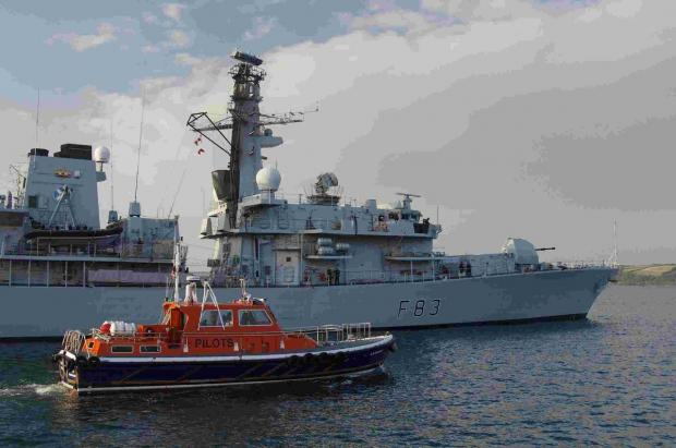 HMS St Albans leaves Falmouth for intensive work up