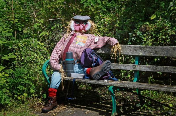 World War One theme for Gweek scarecrow trail
