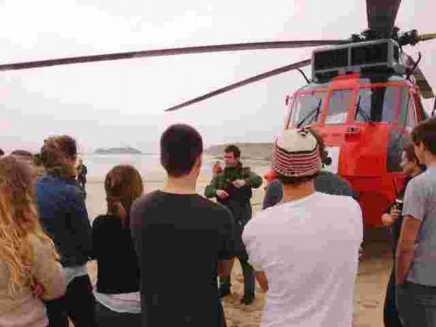 Culdrose search and rescue crews help train Cornwall's lifeguards