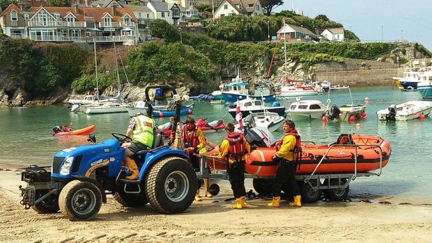 Ditched paraglider pulled from sea by RNLI