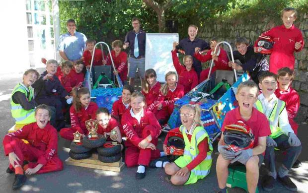 Mylor School engineers triumph over 60 schools at Greenpower electric car races
