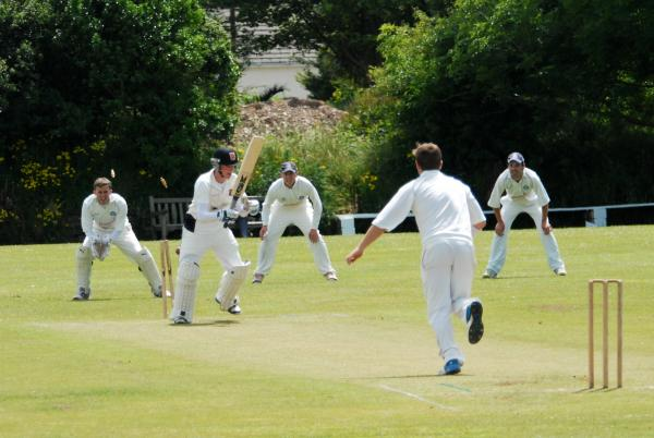 Another wicket bites the dust as Troon all for for just 28. Picture: DAVID J BLANKS/CARTEL
