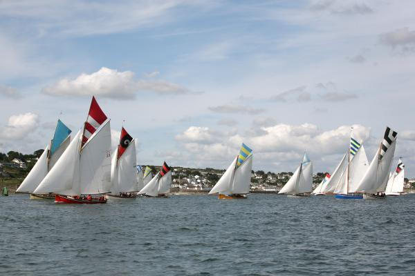 Boats in the B Class during a race. Picture: JAMIE MEDLIN