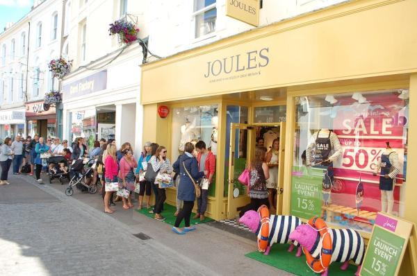 Shoppers queue up for Falmouth shop opening sale