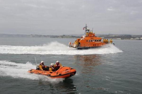 Sailor rescued by lifeboat after raising alarm on Facebook while treading water for two hours
