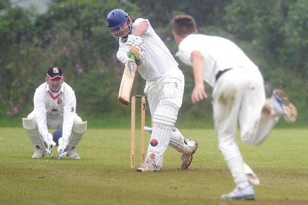 Action from the middle as Wendron bat. Picture: SAM BARNES/CARTEL