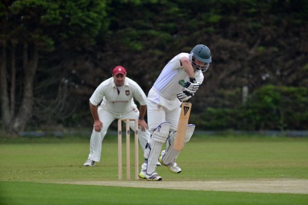 Camborne's Kevin Roberts at the crease