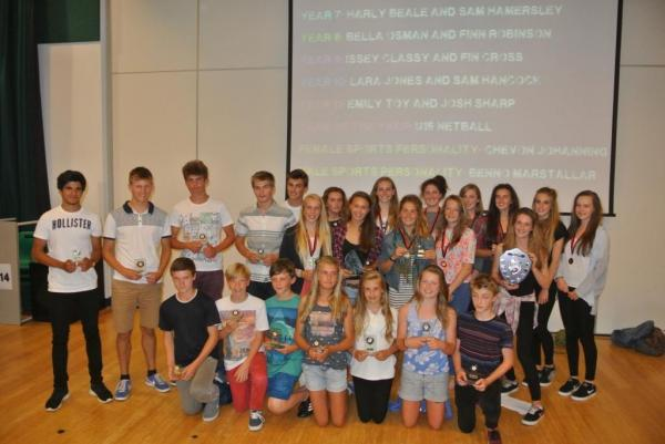 All the winners from the award ceremony at Penryn College