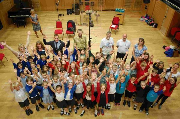50 strong Falmouth primary schools' choir record Tall Ships inspired shanty
