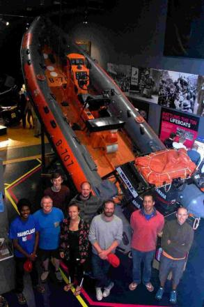 Earliest example of RIB makes stop at maritime museum in Falmouth