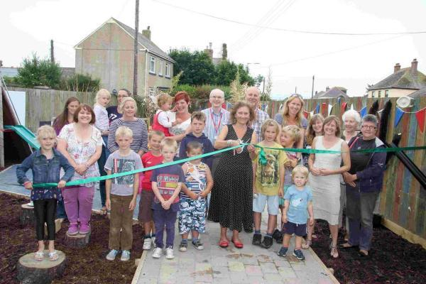 New play area unveiled at Mullion Nursery