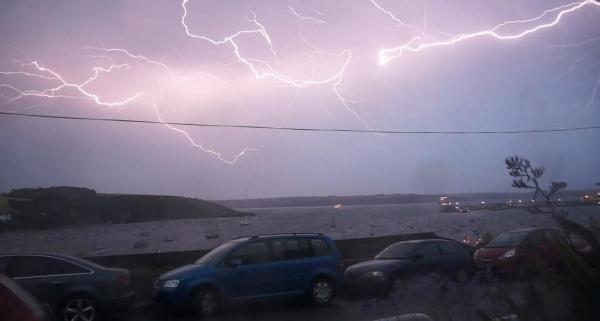 Lightning over Falmouth captured by Henry Ward Design