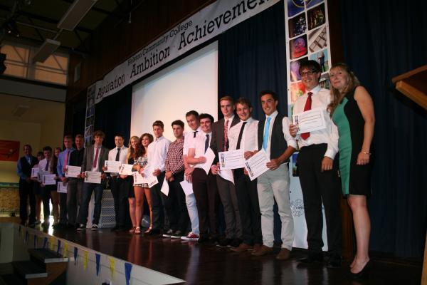 All the winners from the ceremony at Helston Community College