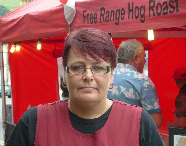 Liz Layzell and husband John had concerns over the way pork was handled at one of the European street markets
