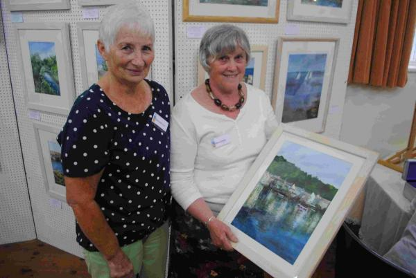 An acrylic painting by member Helen James is being raffled in aid of Constantine Church Hall