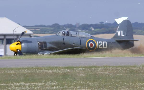 The aircraft skids off the runway and on to the grass. Pictures: GRAHAM SPILLER