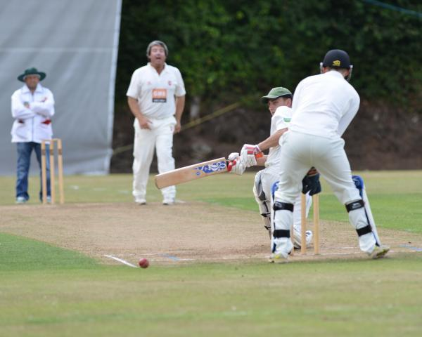 Richard Kellow at the crease for St Gluvias. Picture: DAVID J BLANKS/CARTEL
