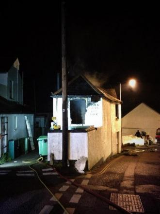 Woman rescued as Penzance fish and chip shop goes up in flames