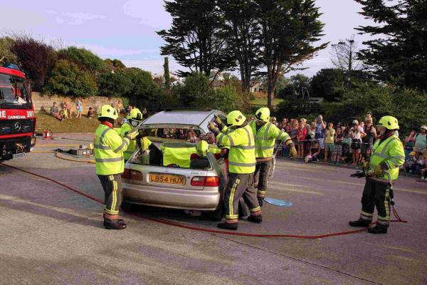 Record turnout for Mullion Fire Station open evening