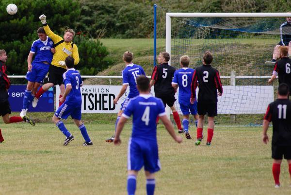 Action from Perranporth v Penryn. Picture: TRISTRAM POTTER/CARTEL