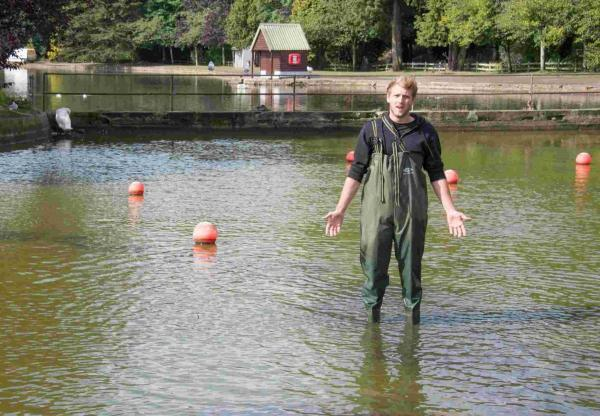 Vandals drain Helston boating lake