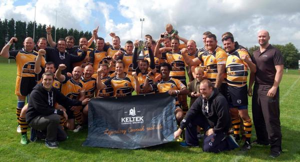 The Cornish Rebels celebrate after winning the South West Premier League Grand Final