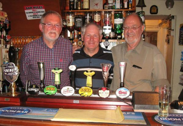 The trio reunited at the Sportsmans Arms, Four Lanes