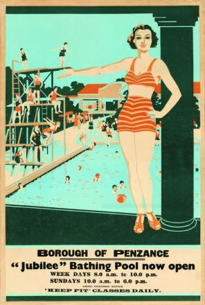Art Deco poster goes on sale in aid of Jubilee Pool