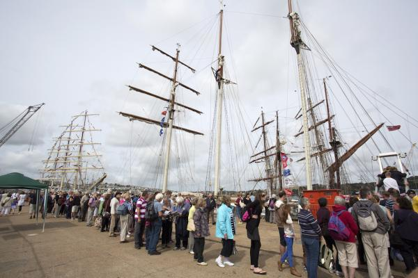 Thousands expected to watch Falmouth Tall Ships Regatta parade of sail today