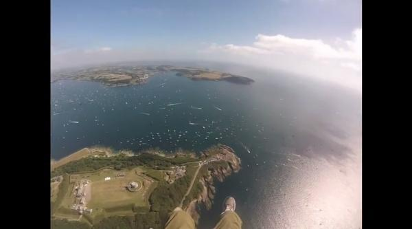 Falmouth Tall Ships parade from the air: VIDEO