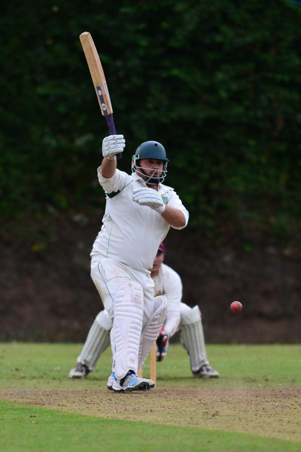 Mat Ambrose batting for St Gluvias. Picture: DAVID J BLANKS/CARTEL