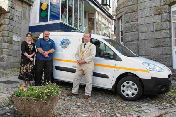 New Helston town council van hits the road... finally