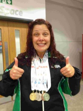 Five medals for Helston woman after kidney transplant