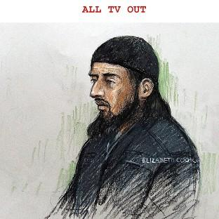 Court sketch of terror suspect Haroon Rashid Aswat , 31, during his extradition hearing in January 2006. Judges have now said he can be extradited to the US (Elizabeth