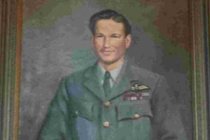 Helston council aims to give painting of  'Dam Busters' hero back to Porthleven by Christmas