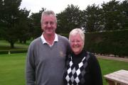 "Ian ""Henry"" Churcher and Janice Binions, who won the Mixed Greensomes"